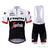 SUHINFE Costumi da Ciclismo per Uomini, Completo Ciclismo Uomo Estivo Maglia Ciclismo Maniche Corte Squadra Professionale, TK-White, L