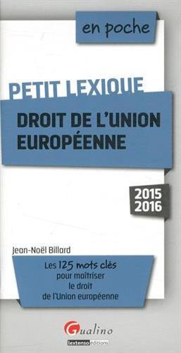 Petit lexique Droit de l'Union europenne