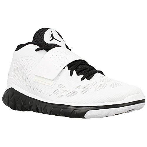 Nike Herren Jordan Flight Flex Trainer 2 Hallenschuhe, Weiß-Schwarz, 46 EU (Herren Nike Flight Basketball-schuhe)