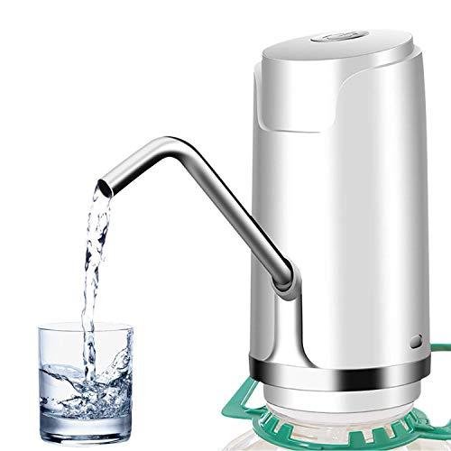 Allomn pompa per acqua potabile, pompa per acqua ricaricabile, erogatore automatico usb alimentato con pulsante per casa ufficio scuola ospedale (a:stile classico)