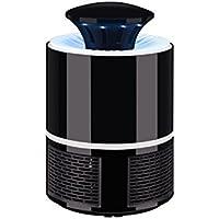 WINOMO LED Lámpara para Matar Mosquitos Sin Radiación Cargador USB 6 LED para Hogar Exterior (Negro)
