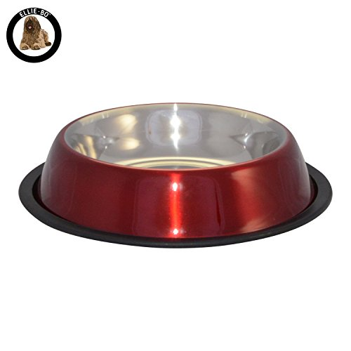 ellie-bo-dog-or-cat-stainless-steel-anti-skid-food-bowls-in-6-sizes-and-4-colours-050l-small-red