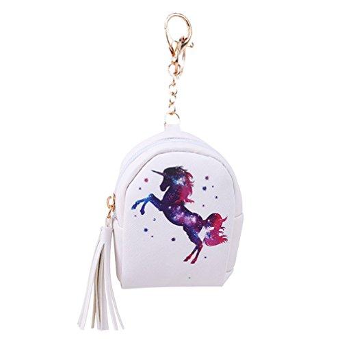 Toporchid Mädchen Kinder Niedlich Einhorn Geldbörse Geldbeutel mit Reißverschluss PU Leder Kleine Portemonnaie Brieftasche (Muster 5) (Niedliche Geldbörse Muster)