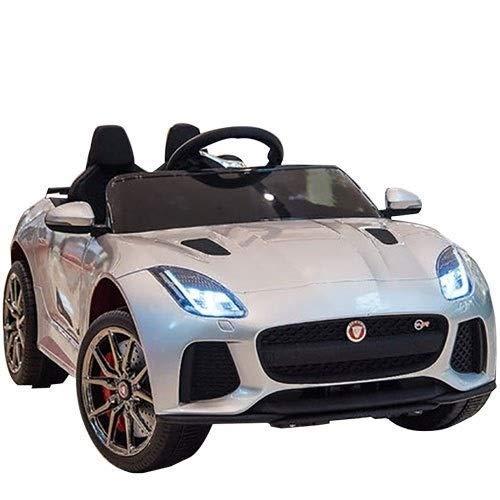 AIOJY Veicoli W/Telecomando, Sospensione, Lettore Mp3, Alimentazione a Batteria 6v con Ruote Musica, Telecomando, Fari e Corno Grancabrio 12V Electric Kids Ride On Cars Motorizzato (Color : White)