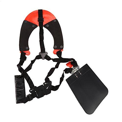 Zerodis Imbracatura da Decespugliatore Doppia Tracolla Professionale Cintura in Nylon Tracolla Durevole Cinturino Bretelle Tracolla Regolabile con Cinturino Imbottito per Decespugliatore da Giardino
