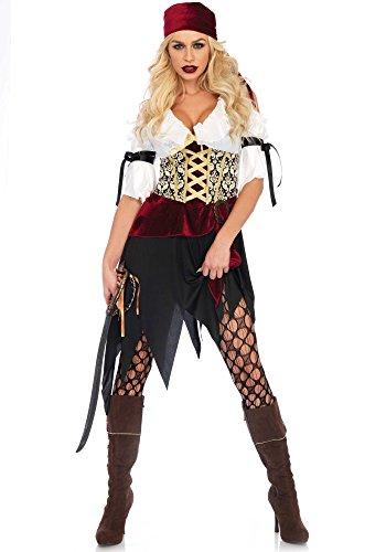 h Seas Wench Kostüm, Mehrfarbig, Medium (EUR 38) (Sexy Piraten Haar)