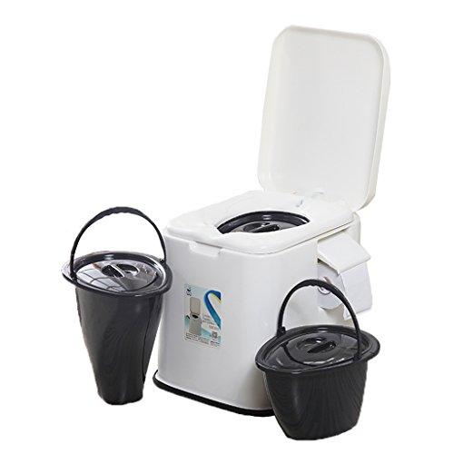 MyAou-commode Toilette Chaise Portable Toilette Antidérapante Toilette Voyage Camping Randonnée Pique-Nique en Plein Air (Couleur : Blanc)
