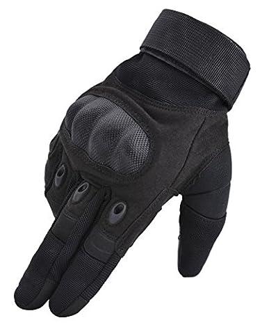 Coofit Outdoor Handschuhe Winter Motorrad Handschuhe Herren Vollfinger Sport Gloves Biking Skifahre Handschuhe (Schwarz, M)