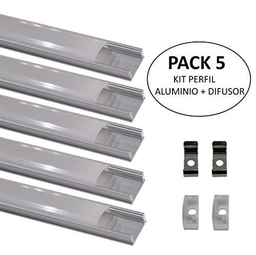 Led Atomant 5 x1 Perfil Aluminio Tira Led Cubierta