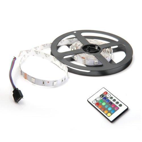 Sonline 2M 60 5050 SMD LED RGB Leiste Strip Band Streif RGB + 24 Taste Remote