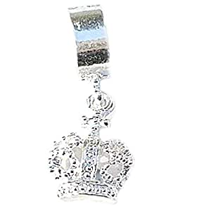 TOC BEADZ Crown Dangle Slide-On & Slide-Off Charm Bead