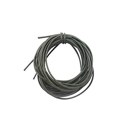 kaakaeu 1 m / 39,37 Zoll Durable Silikon Anti-Bite Angeldraht Tackle für Outdoor Rock Meer Angelrute Zubehör, einfarbig, Grün