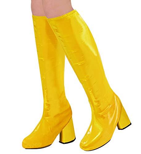 Jahre Kostüm 70er Stil - WIDMANN 65783 Stiefelüberzieher für Erwachsene Damen Gelb