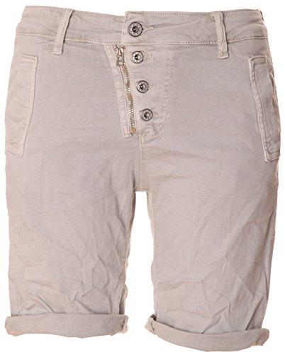 BASIC.de Bermuda-Shorts 4-Knopf mit Reißverschluss Hellgrau XL