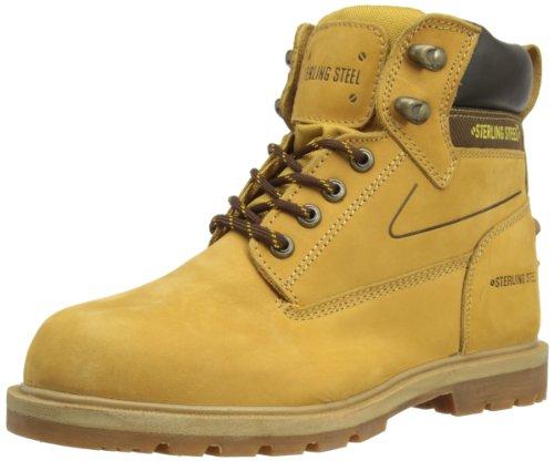 Aço Desgaste Segurança Esterlina, Senhores Botas De Protecção Amarelo (trigo)