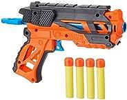 Amazon Brand - Jam & Honey Battle Blaster Toy Guns, Orange, with Soft Foam Bul