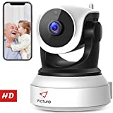 Victure 1080P FHD WiFi IP Camera Wireless Indoor Camera Night Vision Motion Detection 3-Way Audio Home Security Surveillance Pan/Tilt/Zoom Monitor Baby/Elder/Pet