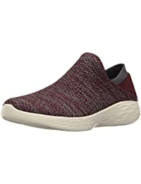 Skechers Sunlite-Revival, Baskets Femme, Rouge (Burgundy/Rose Gold), 36 EU