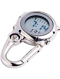 CLISPEED Mini Reloj con Mosquetón Reloj de Cuarzo con Clip Mochila Cinturón Reloj de Bolsillo Regalos para Escalada en Roca Médicos Enfermeras