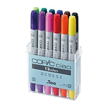 Copic CZ22075312 ciao Basis-Set Marker 12-er Set BV08, V09, RV04, R29, YR07, Y06, YG06, G17, BG09, B29, E29, 100
