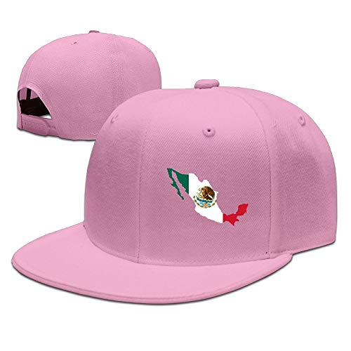 Xdevrbk CapHat Cool Die Geschichte der mexikanischen Flagge Flat Bill Baseball Cap Multicolor82