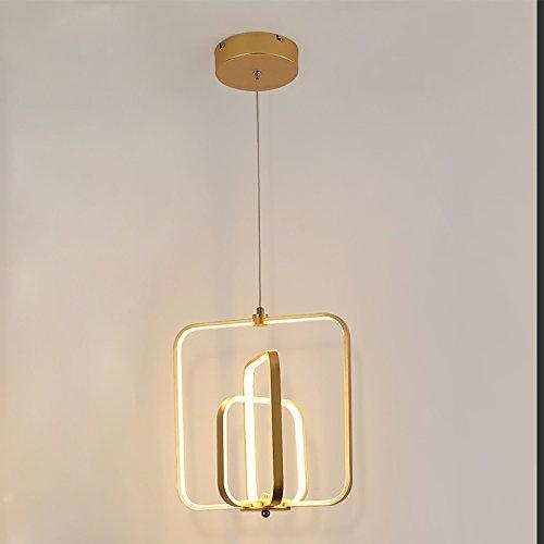 Creative LED Pendelleuchte, Gold, Schwarz, LED Lichtquelle, Warmes Licht, 65W, 220V, 3000K Farbtemperatur, 33 * 33 * 120Cm, Aluminium, Kunststoff, Polieren, Schleifen, Oxidationsprozess,Gold