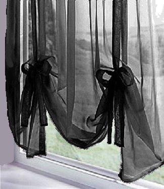 Plain Voile Tie Blind, Voile Curtain Panel, Slot Top Ready