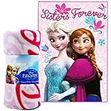 La Reine des neiges Sisters Forever Luxe Deluxe Couverture polaire–Parfait Jeté de lit, couverture de voyage, confortable chaud Polar Polaire Couverture.
