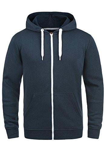SOLID Olli Herren Sweatjacke Kapuzen-Jacke Zip-Hoodie aus hochwertiger Baumwollmischung, Größe:S, Farbe:Insignia Blue (1991) (Blaue Jeans-jacke Hoodie)