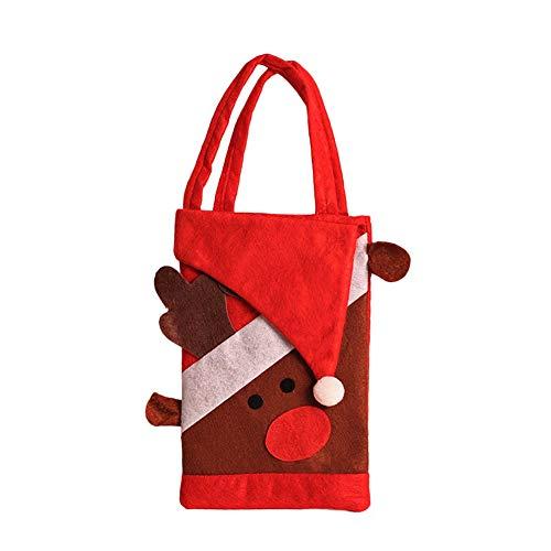 fdghhgjgtkuyiuy Vliesstoffe Kinder Süßigkeiten Taschen Tasche Für Süßigkeiten Taschen Weihnachtsverzierung Dekoration-Multi-Color-Mischelch