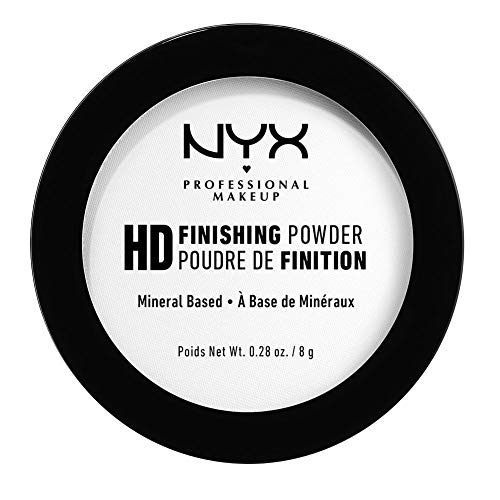 NYX Professional Makeup High Definition Finishing Powder, Gepresstes Puder, Perfektionierte Haut, Mattes Finish, Ölabsorbierend, Vegane Formel, Farbton: Translucent