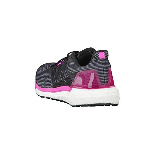 adidas Damen Supernova Laufschuhe, Grau Schwarz (Utility Black/core Black/shock Pink)