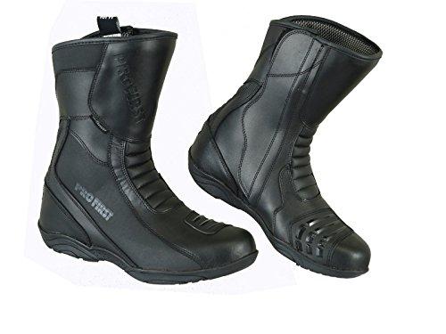 Mr.Pro, stivali da moto da uomo corazzati, con caviglia alta, in vera pelle, con suola in gomma antiscivolo, impermeabili, adatti per sport e corse in moto