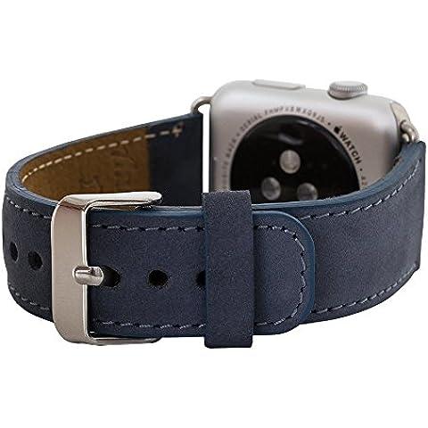 Apple Watch Strap Antic–Bracciale in pelle vintage leather 100% Hand Made Elegance Series Replacement Wrist Band Watch Band Strap Watch Band Cinturino per orologio cinturino per orologio erstatz Band Apple Watch