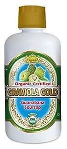 Dynamic Health Organic Graviola Gold (Guanabana Soursop) - 100% Pure Graviola Juice 32oz / 946ml