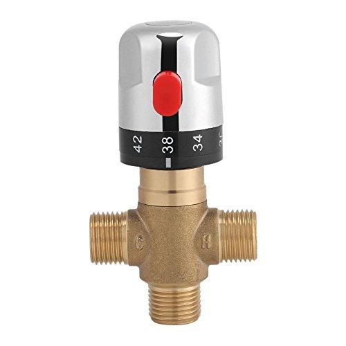 Asixx Armatur Thermostat, Thermostatisches Mischventil mit Messingkörper und Kunststoffgriff für den Gebrauch im Badezimmer, Waschraum, Küche, Wäsche und usw