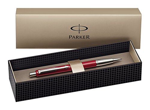 Parker Vector Ballpoint Pen with Medium Nib, Gift Boxed - Red