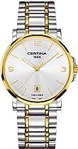 Certina Herren-Armbanduhr XL Analog Quarz Edelstahl C017.410.22.037.00