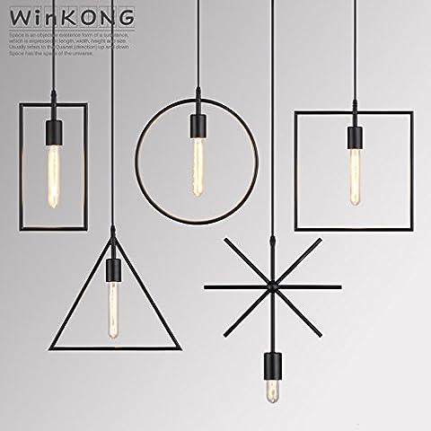 Le luci LED creative ristorante retrò vento industriale lampadario ferro cafe bar personalità fondata loft 5-piece set è fornito completo di 1 5 # , insieme con 3 piece SET # Pozidriv triangolo rettangolare