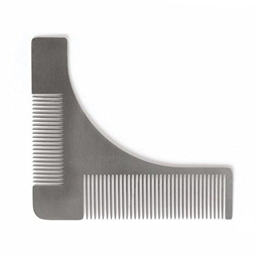 Barbe à modeler et peigne, SUNNIOIR Barbe en acier inoxydable pour le coiffage et le...
