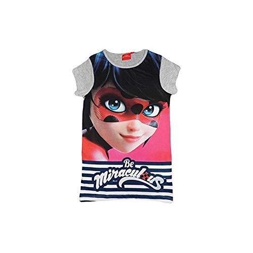 Miraculous Tales Of Ladybug and Cat Noir Niñas Long T-Shirt (Gris, 4 Años)