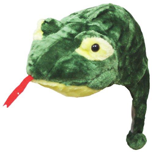 hlange Hat Maske Unisex UP PARTY KLEID KOSTÜM FÜR KINDER Gr. One size, grün (Schule-halloween-party-spiele)