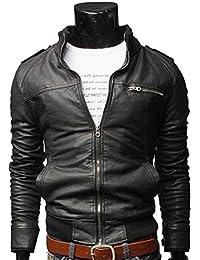 Amazon.it  giacca ecopelle - Uomo  Abbigliamento 785d926de62