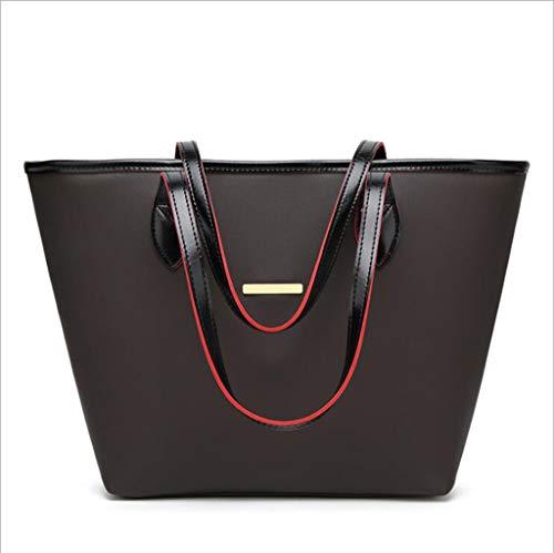 Mumie Kostüm Womens - Y-H-X Umhängetasche LadyPU Leder Handtaschen Ladies Handtaschen lässige Frauen-Schultertasche Mode Handtaschen Mumie Eimer Tasche Mode Big Bag,Black