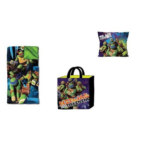 Nickelodeon Teenage Mutant Ninja Turtles Slumber Tote with Pillow Toy