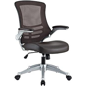 LexMod Attainment Office Chair, Plastic, Brown