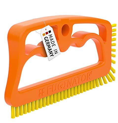 FUGINATOR® Fugenbürste orange/gelb- Bürste zur Fugenreinigung in Bad, Küche und Haushalt mit EU-Patent