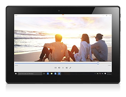 Lenovo Miix 310 2565 cm 101 Zoll HD Tablet PC Intel Atom x5 Z8350 Quad major Prozessor 4GB RAM 64GB eMMC Intel HD Grafik Touchscreen Windows 10 silber inkl AccuType QWERTZ Tastatur Notebooks