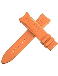 Jaeger LeCoultre–OEM correa de reloj banda de goma naranja 150–75222mm x 20mm