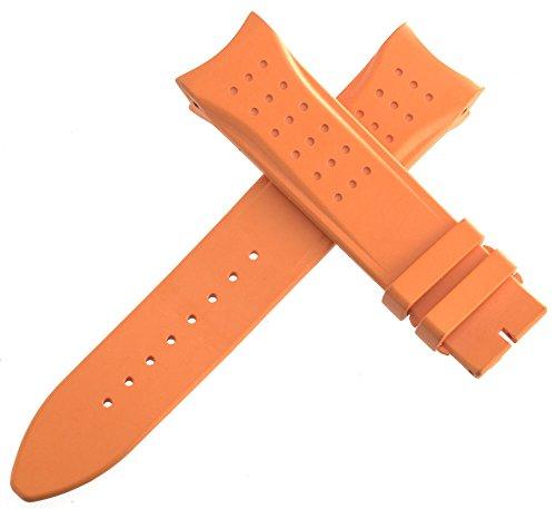 Jaeger LeCoultre Herren OEM orange Gummi Uhrenarmband 150–75222mm x 20mm